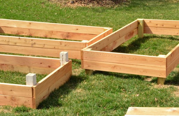 Raised bed under construction