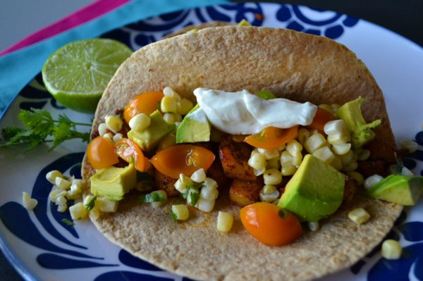 'Tato Tacos with Cilantro Lime Corn