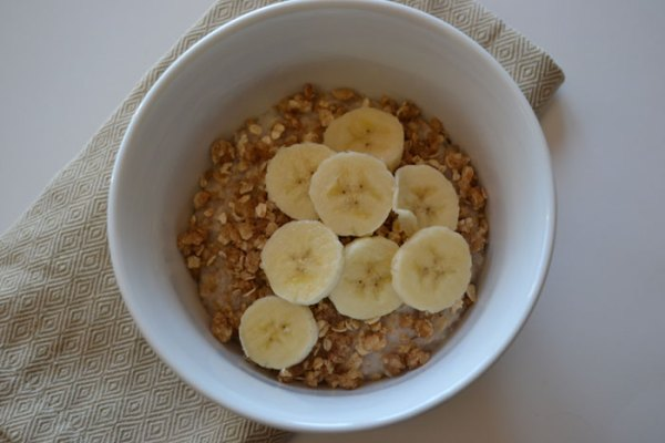 steel cut oats & bananas